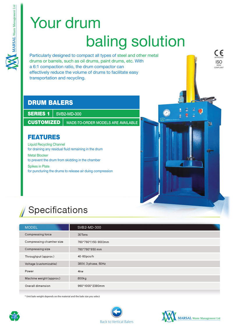 Drum Baling Machine